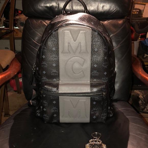 MCM Backpack Visetos Stripe M 5b4c05f712995598a473a98d Stark rqSTZr
